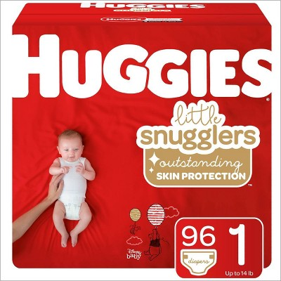 Huggies Little Snugglers Diapers - Size 1 (96ct)