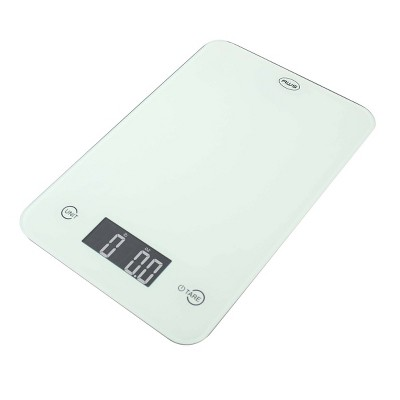 American Weigh Scales  Onyx-5K Tempered Glass Kitchen Scale White