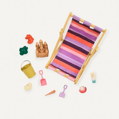 "Our Generation Beach Chair Accessory Set for 18"" Dolls - Day at the Beach"