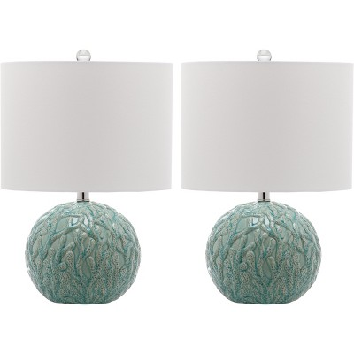 Aqua Table Lamps (Set Of 2) (Includes Energy Efficient Light Bulb)    Safavieh®