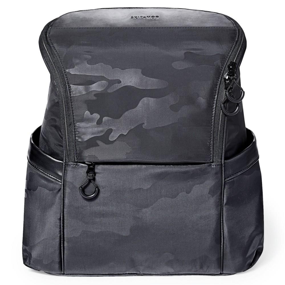 Skip Hop Diaper Bag Backpack Easy-Access Unisex Bag Paxwell - Black Camo thumbnail