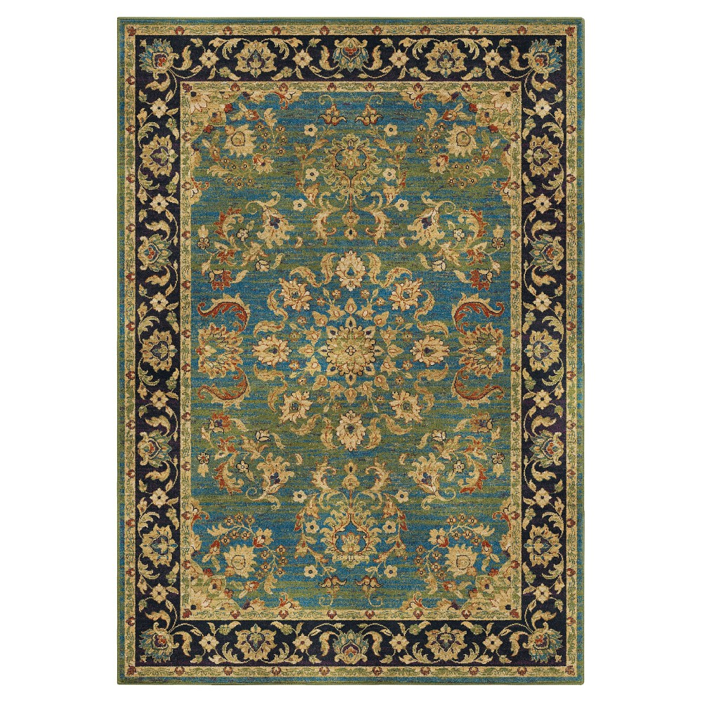 """Image of """"Aqua Abstract Woven Area Rug - (5'3""""""""X7'6"""""""") - Orian, Size: 5'3"""""""" x 7'6"""""""", Blue"""""""