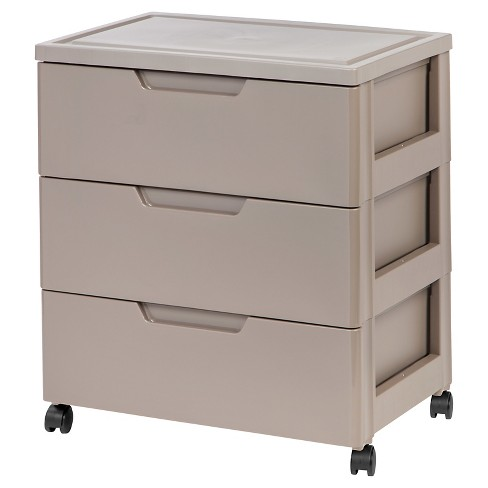 IRIS 3 Drawer Wide Storage Cart - image 1 of 7
