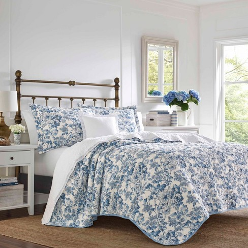Laura Ashley Aimee Quilt Set Blue - image 1 of 4