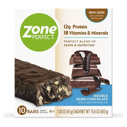 Zone Perfect Nutrition Bar Double Dark Chocolate - 1.58oz(10pk) - image 1 of 4