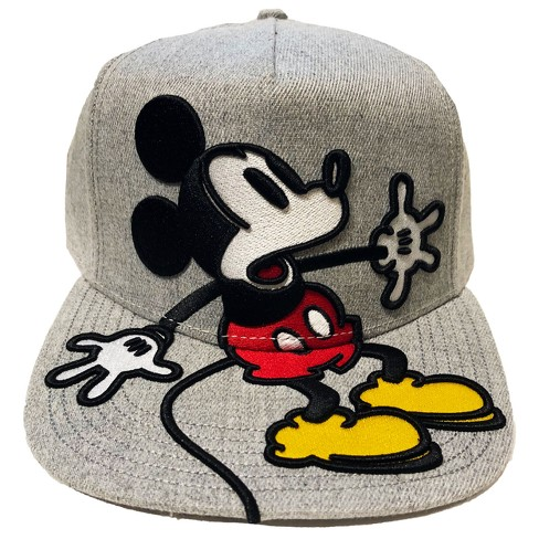 Men s Mickey Mouse Baseball Hat - Gray One Size   Target 57bb41dcfa5