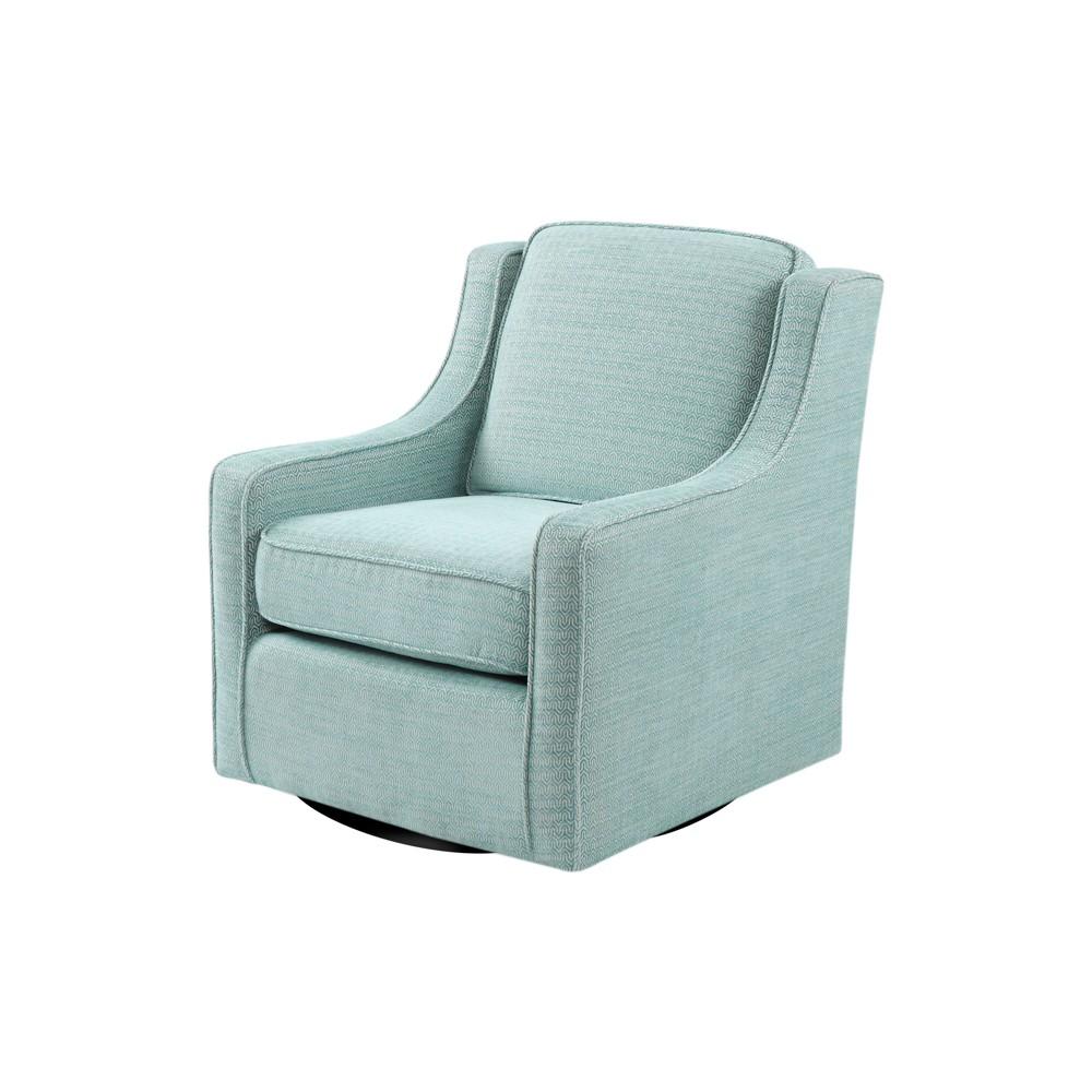 Sidney Chenille Swivel Chair Dusty Aqua