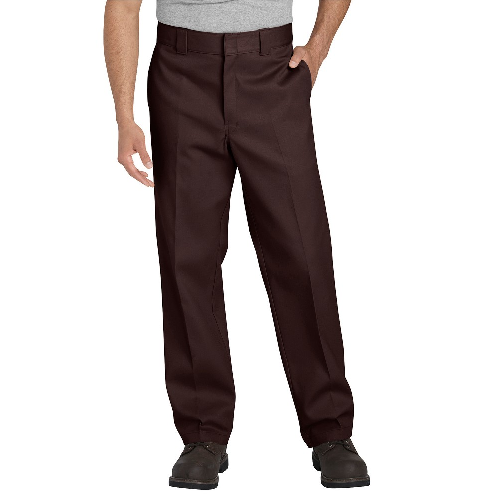 Dickies Men's Big & Tall 874 Flex Straight Fit Work Pants - Brown 50x32