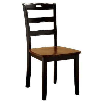 Sun U0026 Pine Ladder Back Wooden Chair Wood/Antique Oak/Black (Set Of 2)