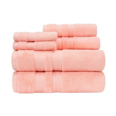 6pc Bel Aire Towel Set Coral - Caro Home