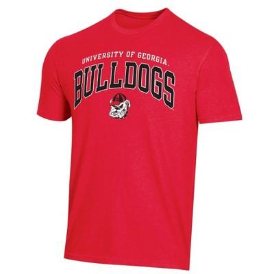 NCAA Georgia Bulldogs Men's Short Sleeve Heather T-Shirt