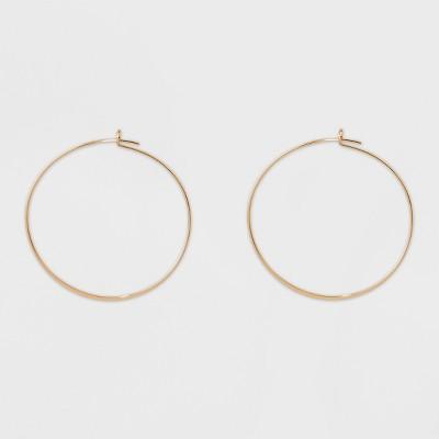 Thin Medium Hoop Earrings - A New Day™ Gold
