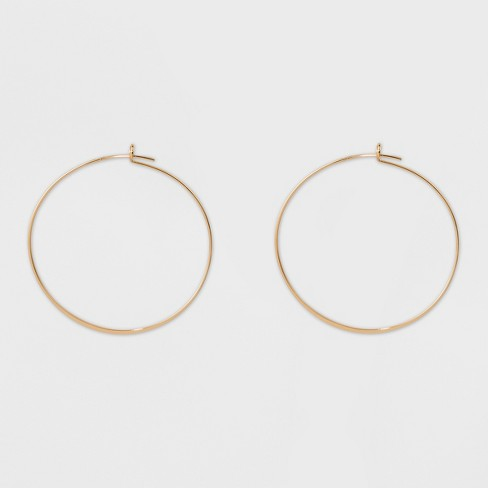 Thin Medium Hoop Earrings - A New Day™ Gold - image 1 of 1
