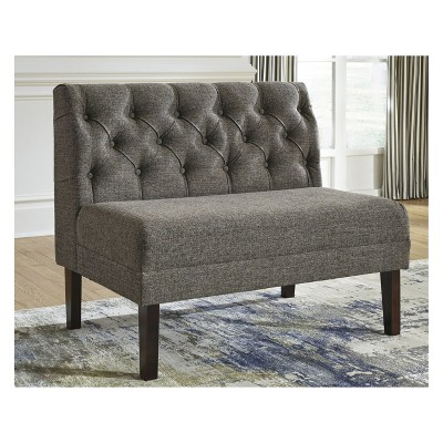 Bon Tripton Large Upholstered Dining Room Bench Medium Brown   Signature Design  By Ashley