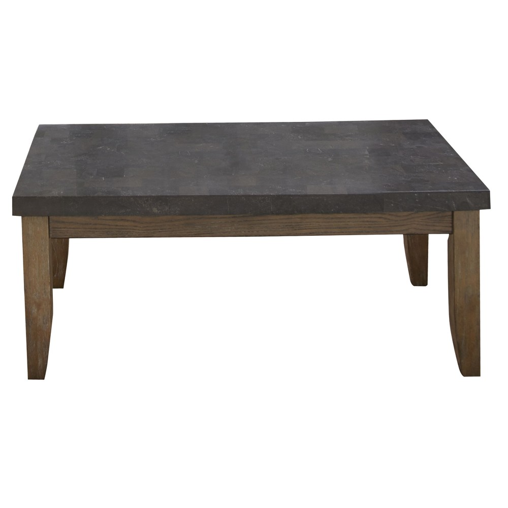 Debby Bluestone Cocktail Table Driftwood (Brown) - Steve Silver