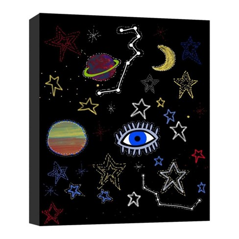 "Mistic Space I Decorative Canvas Wall Art 11""x14"" - PTM Images - image 1 of 1"