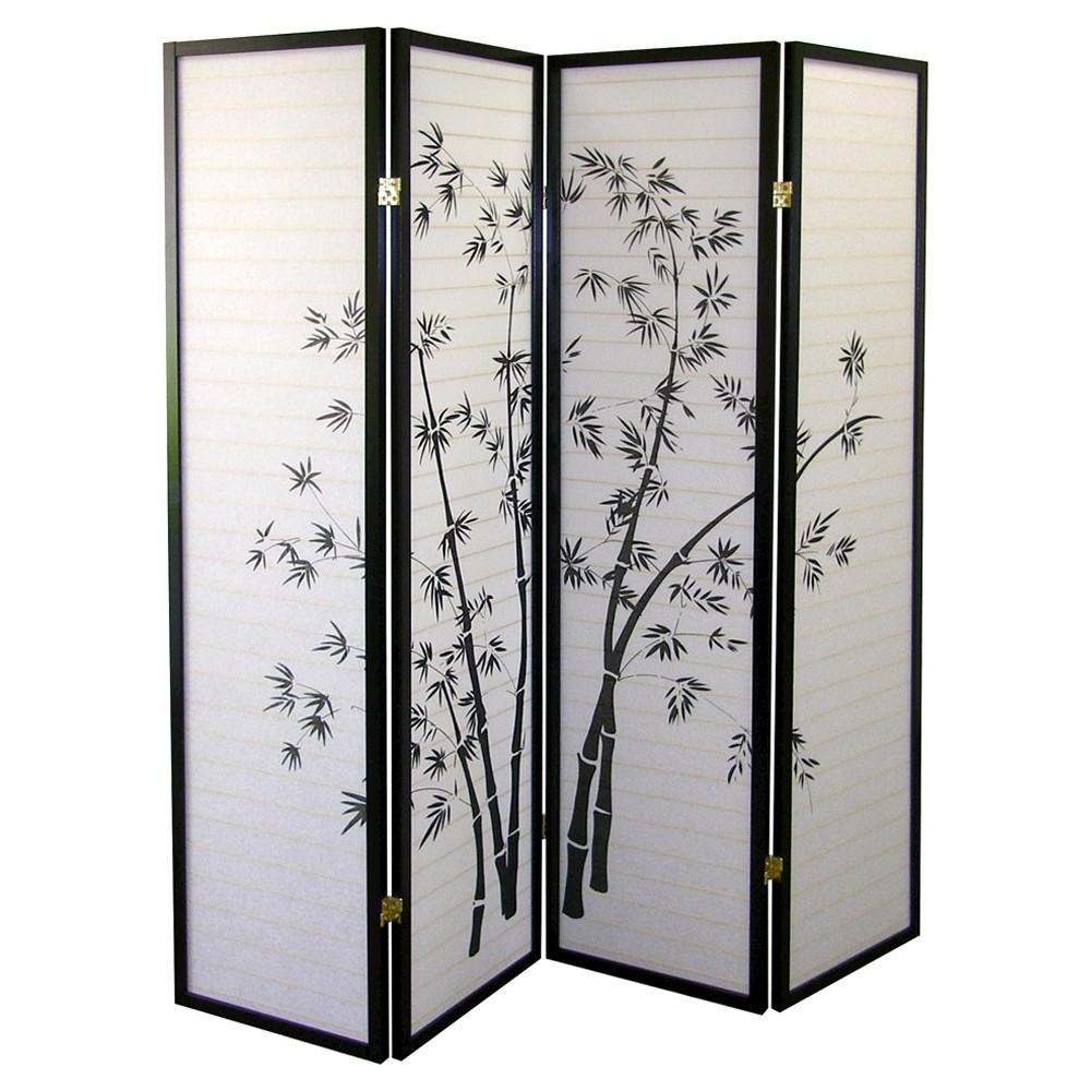Image of 4 Panel Room Divider Black/White - Ore International, Black White