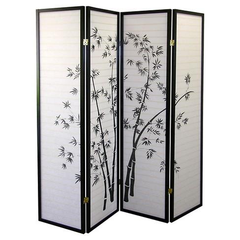 4 panel room divider 4 Panel Room Divider Black/White   Ore International : Target 4 panel room divider