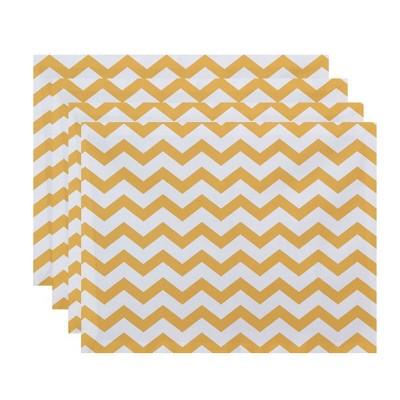 4pk Chevron Placemats Yellow - e by design
