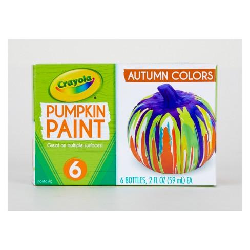 Crayola 6ct 2oz Pumpkin Paint - Autumn Colors - image 1 of 4