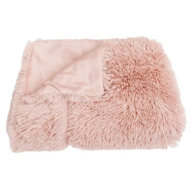 """50""""x60"""" Chubby Faux Throw Blanket Rose - Décor Therapy"""
