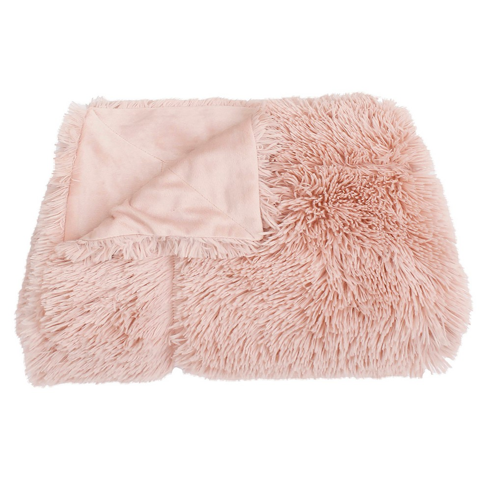 Image of Chubby Faux Throw Blanket Rose - Décor Therapy, Pink