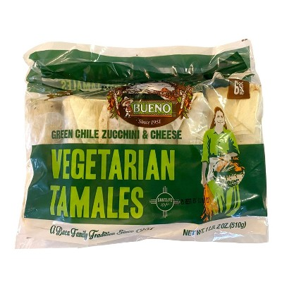 Bueno Frozen Vegetarian Tamales - 18oz
