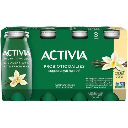 Activia Dailies Probiotic Vanilla Yogurt Drink - 8pk/3.1 fl oz Bottles - image 1 of 4