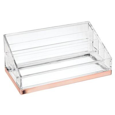 mDesign Plastic 4 Tier Cosmetic Organizer for Bathroom Vanity