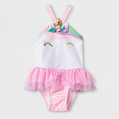 Toddler Girls' One Piece Swimsuit with Bow - Cat & Jack™ Pink 4T