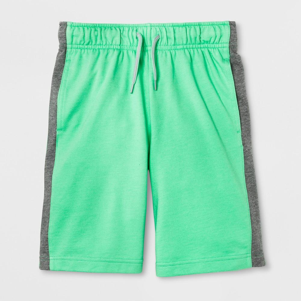 Boys' Stripe Pull-on Shorts - Cat & Jack Green XL