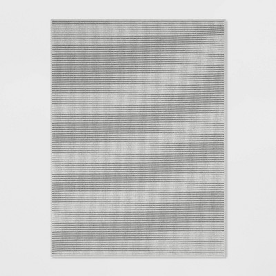 Stripe Woven Area Rug Gray - Made By Design™