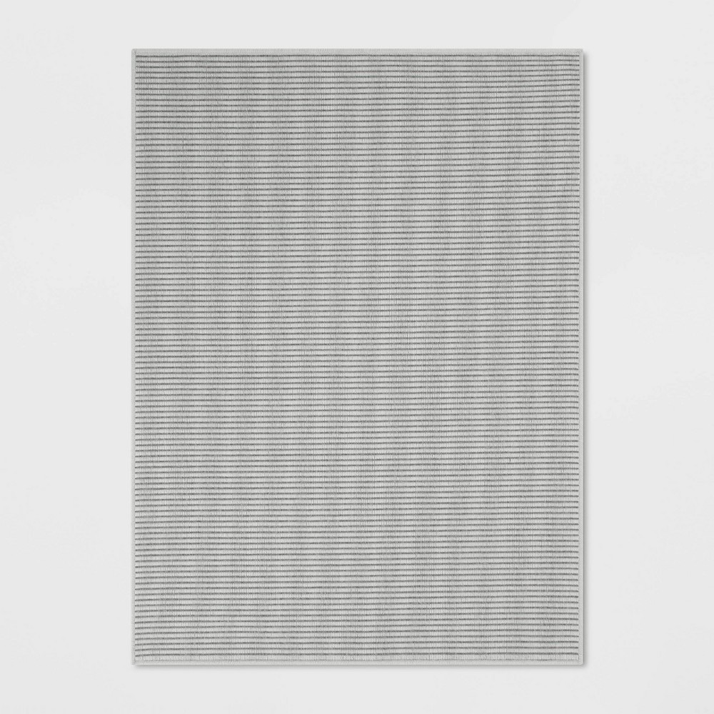 Image of 9'X12' Stripe Woven Area Rug Gray - Made By Design