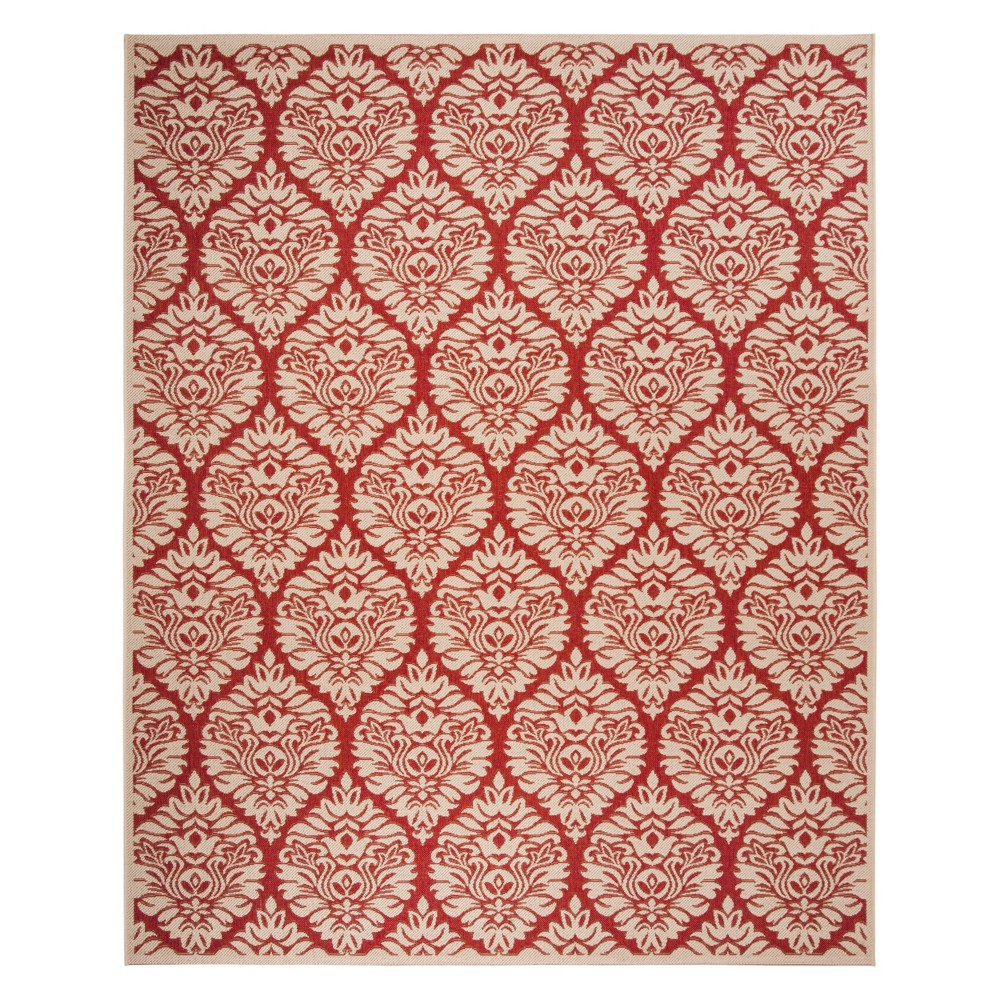 8'X10' Damask Loomed Area Rug Red/Cream (Red/Ivory) - Safavieh