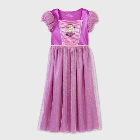 Girls' Disney Princess Rapunzel Fantasy Nightgown - Purple - image 1 of 2