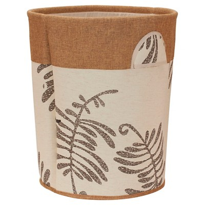 Household Essentials - Round Soft-Side Burlap Hamper - Cream/Brown