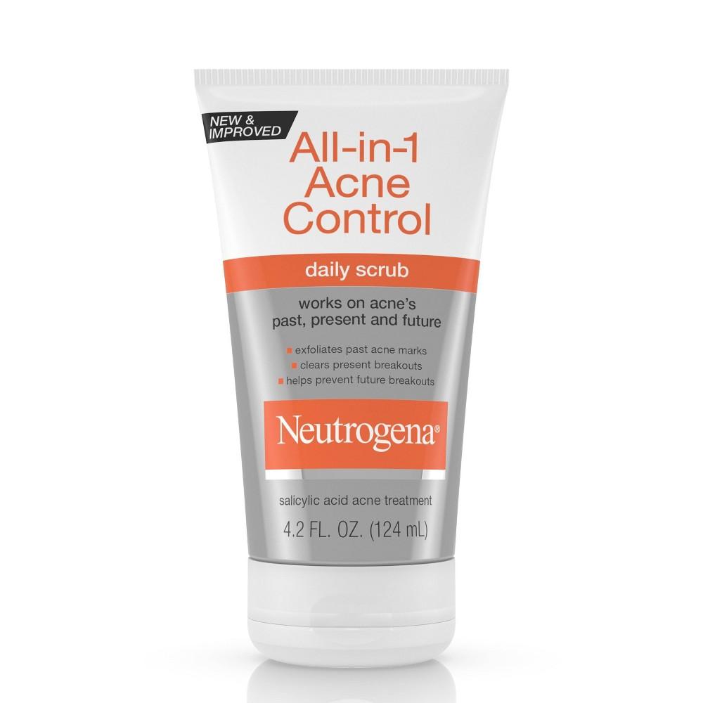 Image of Neutrogena All-In-1 Acne Control Daily Scrub - Acne Treatment 4.2 fl oz