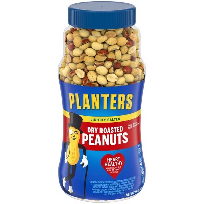 Planters Heart Healthy Lightly Salted Dry Roasted Peanuts - 16oz