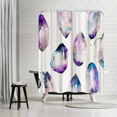 "Americanflat Purple Gemstones Ii by Pi Creative Art 71"" x 74"" Shower Curtain"