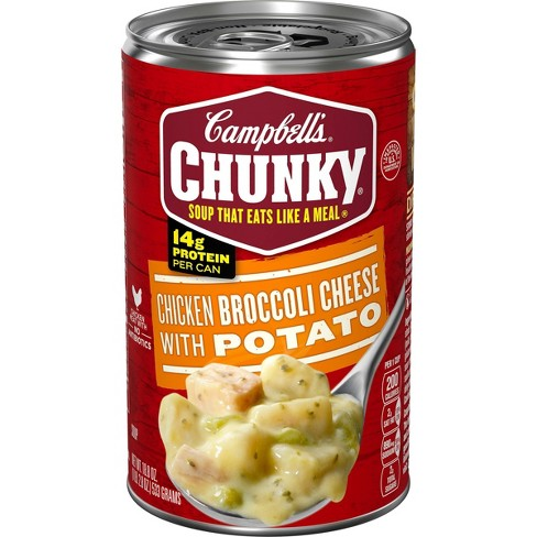 Campbell's Chunky Chicken Broccoli Cheese with Potato Soup 18.8oz - image 1 of 4