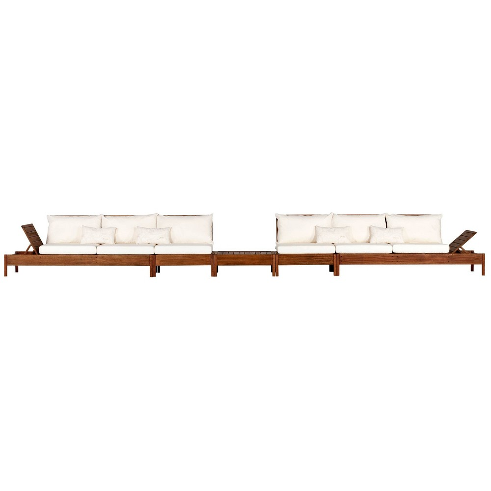 Image of 2pc Grass Eucalyptus Wood Outdoor Seating Set - Alaterre Furniture