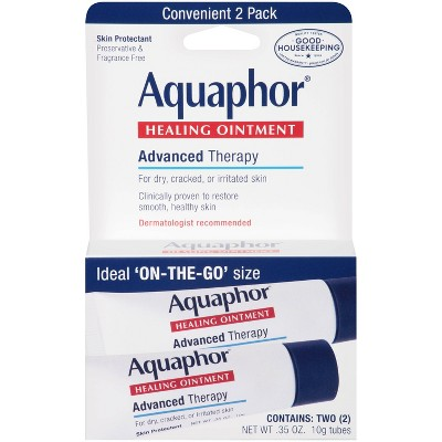 Aquaphor Healing Ointment On The Go For Dry & Cracked Skin - 2ct - 0.35oz
