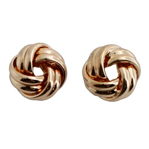 Love Knot Stud Earring Gold