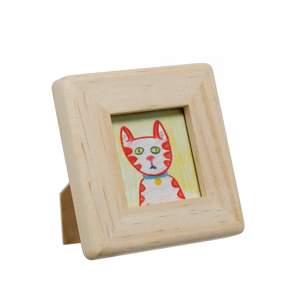 Image of Hand Made Modern Unfinished Picture Frame, Natural