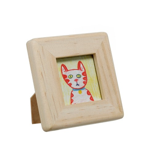 "Unfinished Wood 2 x 2"" Square Picture Frame - Natural Hand Made Modern® - image 1 of 1"