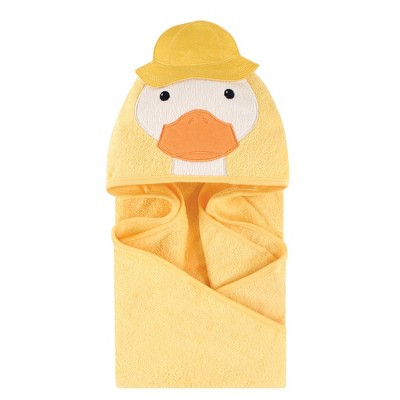 Little Treasure Baby Unisex Cotton Animal Face Hooded Towel, Duck, One Size