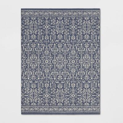 5'X7' Damask Tufted Area Rug Blue - Threshold™