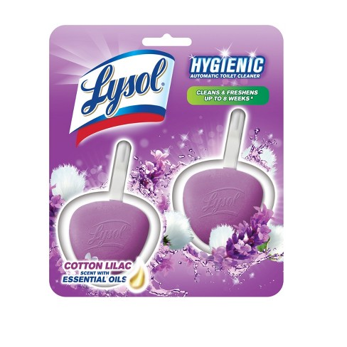 Lysol No Mess Automatic Lavender Fields Toilet Bowl Cleaner - 2 Count - image 1 of 3