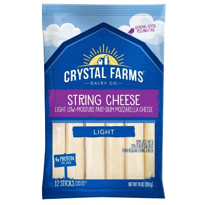 Crystal Farms Light String Cheese - 12ct
