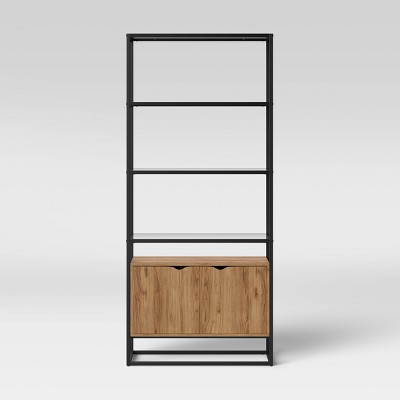 """72"""" Ada Mixed Material Bookshelf with Glass - Project 62™"""